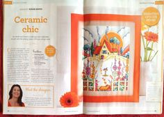Art Deco inspired cottage and garden in issue 229 of World of Cross Stitching magazine 2015