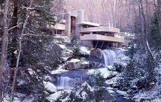 "Fallingwater Una casa chiamata ""cascata"" Kaufmann House di Frank Lloyd Wright - 1936"