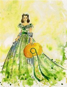 Rossella O'Hara by Silvia Dotti