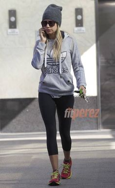 Ashley Tisdale Has A New Workout Hat!