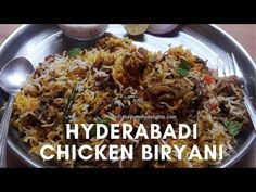 Hyderabadi biryani recipe with step by step photos and a video. Let's find out all the tips & tricks to make perfect hyderabadi biryani at home. Chicken Biryani Recipe Hyderabadi, Chicken Dum Biryani Recipe, Chicken Curry, How To Cook Rice, How To Cook Chicken, Biryani Recipe Video, Indian Appetizers, Indian Snacks, Cooking Recipes