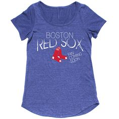 Boston Red Sox Women's Triblend Maternity Scoop Tee by Soft As A Grape - MLB.com Shop