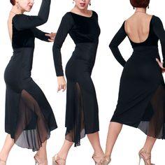 Cyntia Tango Dress in black Tango dancewear [Sel-Et-Tan-12] - $200.00 : Latin dance wear, ballroom dance shoes, latin dance skirts & Salsa dresses.