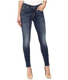 7 For All Mankind The Ankle Skinny w/ Distress in Vintage Kensington (Vintage Kensington) Women's Jeans