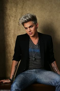 Adam Lambert - not a great look with the gray hair. But still love him..