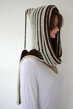 Hooded Scarf by SweetNothingsStitch on Etsy