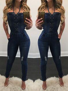 94522a6048ee Buy Trendy Wash Ripped Suspender Denim Jeans Jumpsuit Romper at Sins    Temptations for only Rs 2