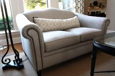 Live Beautifully: A Simple Sofa Makeover