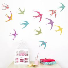 Birds in Flight Wall Stickers ~ £32