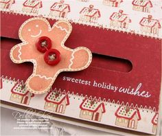 Gingerbread Man Spinner Card Tutorial