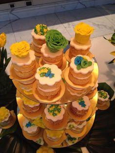 Mini bolos com flores inspiradas na Copa