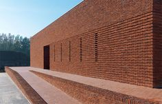 Image 1 of 21 from gallery of Pavilion Brick Factory Vogelensangh / Bedaux de Brouwer Architects. Courtesy of Bedaux de Brouwer Architects Brick Architecture, Pavilion Architecture, Sustainable Architecture, Landscape Architecture, Ancient Architecture, Residential Architecture, Building Front, Brick Building, Green Building