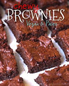 Chewy Vegan & Paleo Brownies | Detoxinista 3 ounces unsweetened baking chocolate 1 tablespoon coconut oil ¼ cup arrowroot starch/flour 2 tablespoons water ¼ cup maple syrup 1 cup coconut sugar 1 teaspoon vanilla extract ⅛ teaspoon salt 1½ cups almond meal ½ cup dark chocolate chips (optional)