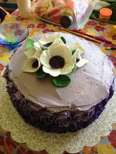 Purple ombré with gum paste flowers