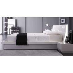 Prestige Modern White Lacquer Bed - 1495.0000