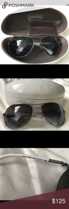 319d766fed Selling this Coach Allegra Aviator Sunglasses HC7006 White on Poshmark! My  username is  bagsnmoda