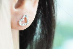 Give this cute and dainty heart earrings to Wife! #WifeappreciationDay