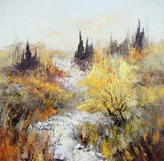 Peinture Huile sur Toile au couteau / Manuel RUBALO Art Prints, Drawing Trees, Drawings, Painting, Dessert, Paisajes, Pintura, Oil Painting On Canvas, Palette Knife Painting