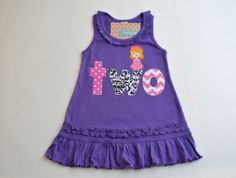Girls 2nd Birthday Princess Dress Two Applique by TheColorfulYears, $34.00