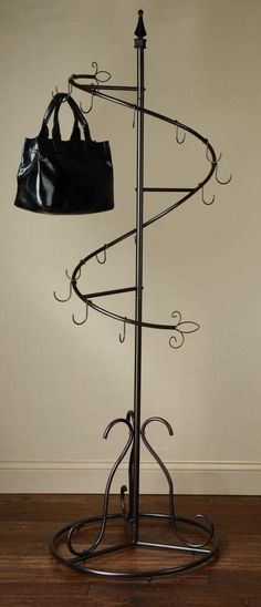 Spiral Purse Tree Retail Display Rack Stand, Hanging Handbag Organizer Holder in Business & Industrial, Retail & Services, Racks & Fixtures Handbag Storage, Handbag Organization, Home Organization, Handbag Organizer, Organizing, Handbag Display, Bag Rack, Ideas Para Organizar, Garment Racks