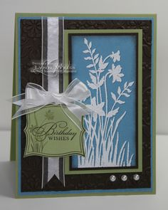 LW Designs: Just Believe Birthday. [I like more elegant nature cards for sympathy]