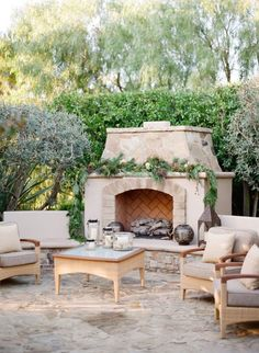 chic french rustic patio design