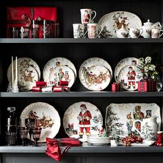 Image result for twas the night before christmas dinnerware