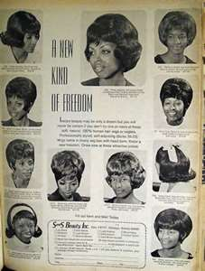 Vintage African American Ad, For Wigs, 1960s or 1950s
