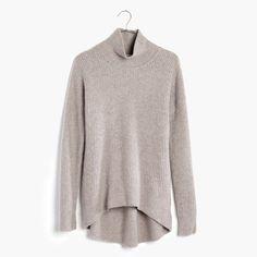 Wafflestitch Turtleneck Sweater