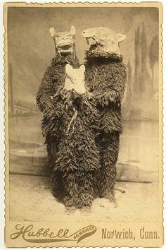 Victorian Hallowe'en…cabinet card c.1885