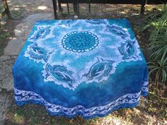 Dolphin Circle with Violet Border round Batik tablecloth hand-printed on Polyester by goldphinbatik on Etsy Picnic Blanket, Outdoor Blanket, Sell On Etsy, Dolphins, Africa, Vibrant, Fine Art, Trending Outfits, Unique Jewelry