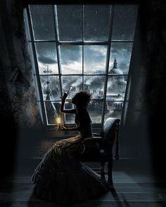 Dark Photoshop manipulations are a trend these days.This is why I made this dark gallery with 51 pics of fantasy girls.Black, dark, gothic, morbid call it however you want. Estilo Tim Burton, Fleet Street, Through The Window, Through The Looking Glass, Fantasy Girl, Dark Fantasy, Lynda Barry, Art Noir, Sweeney Todd