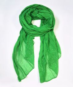 Another great find on #zulily! Green Sparkle Scarf #zulilyfinds