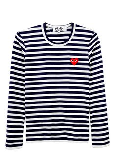 Another stripe shirt! love the heart, a symbol of Comme des garcon!
