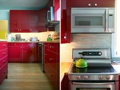 turquoise and red apartment - Google Search