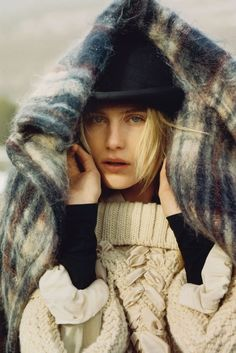 Dree Hemingway by Alasdair McLellan in UK Vogue October 2013