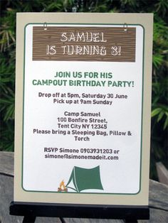 Download a free printable camping party invitation camping party camping birthday party invitations filmwisefo Image collections