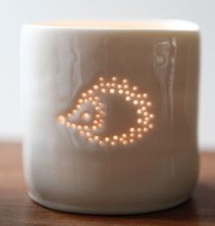 Hedgehog mini tealight holder by Luna Lighting