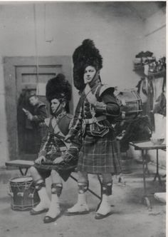 Drummers of 1st Bn Seaforth Highlanders, Edinburgh Castle 1886