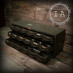 Vintage Industrial Steel Parts Cabinet by IndustrialArtifact, $235.00
