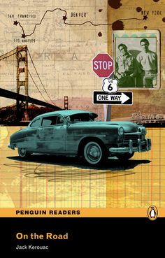 On the Road Jack Kerouac Penguin Readers - Sarah Hanson - Debut Art Penguin Readers, Penguin Books, Collages, Collage Artists, Beat Generation, Collage Illustration, Illustrations, Jack Kerouac, Book Cover Art