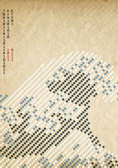 digital hokusai poster by Kris Thaler
