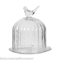 .Collection of bird glass cake stands for other side of the buffet