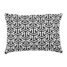 arrows black and white geometrical pattern decorative pillow