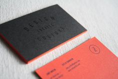 Quote on one side, info and logo on the other. Super cool color palette.