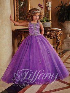 Tiffany Princess Little Girls Dress 13372 - Everything4pageants.com