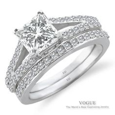 Love this Alluring 14K White Gold Diamond Engagement Ring with beautiful accent diamonds.