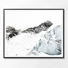 Mountain Photography Icelandic Wall Art Print by ScandiHomeDesign