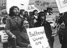Swansea Women's Aid members demonstrating in support of refuges for battered women, 1976, England
