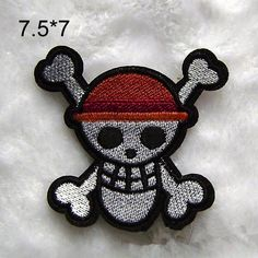 New to craftapplique on Etsy: ONE PIECE patch cartoon Embroidery patches Jolly Roger patch Embroidered patch iron on patch sew on patch 7.57cm A39 (1.90 USD)